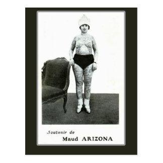 Maud Arizona, Tattooed Wonder Lady Postcard