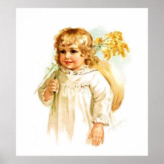 Maud Humphrey: Autumn Girl with Golden Rod Poster