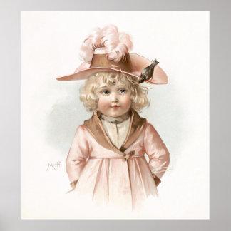Maud Humphrey s Autumn Girl Poster