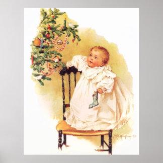 Maud Humphrey s Little Christmas Girl Print