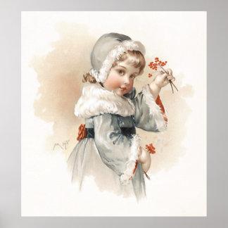 Maud Humphrey s Winter Girl Print