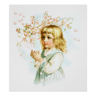 Maud Humphrey: Spring Girl under the Orchard Tree Poster