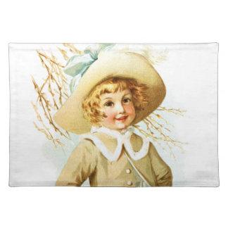 Maud Humphrey: Spring Girl under Willow Catkin Placemat