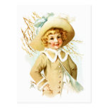 Maud Humphrey: Spring Girl under Willow Catkin Post Cards