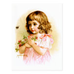 Maud Humphrey: Summer Girl with Flowers and Bee Post Cards