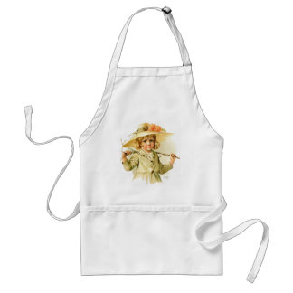 Maud Humphrey: Winter Girl with Branch Adult Apron