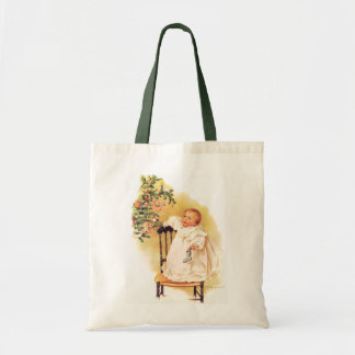 Maud Humphrey's Little Christmas Girl Tote Bags