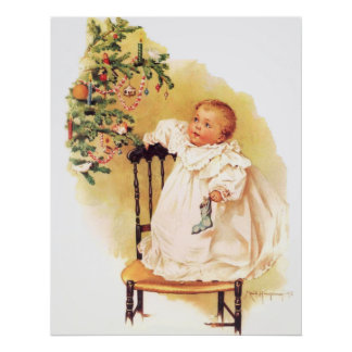 Maud Humphrey's Little Christmas Girl Poster