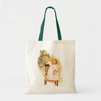 Maud Humphrey's Little Christmas Girl Tote Bag