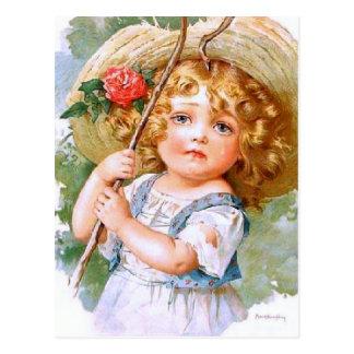 Maud Humphrey's Sweet Little Summer Girl Postcard