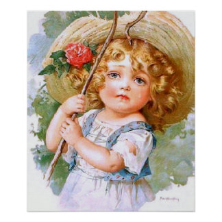 Maud Humphrey's Sweet Little Summer Girl Poster