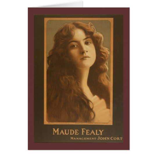 Maude Fealy Vintage Theatre Poster Card