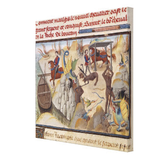 Maugis Fighting the Serpent Canvas Print