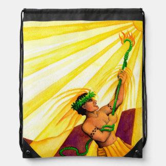 Maui and the Sun Drawstring Bag