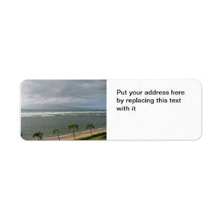 Maui beach return address label