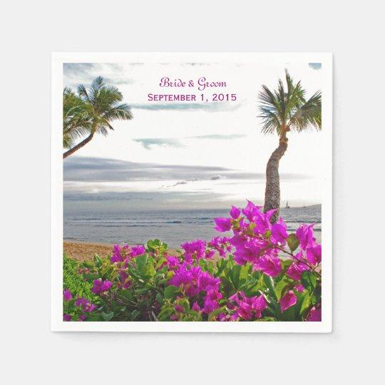 Maui Beach Wedding Paper Napkins