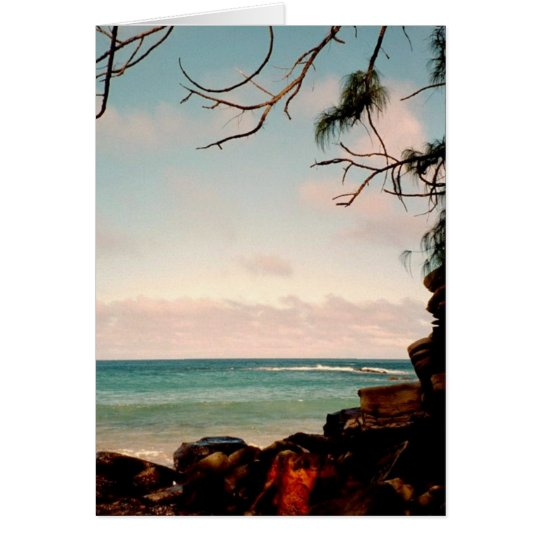 """Maui black rock beach"" collection Card"