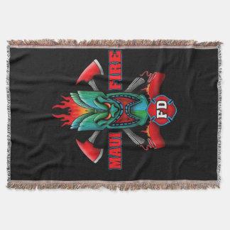 Maui Fire Throw Blanket
