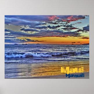 Maui Hawaii beach poster