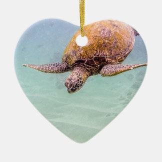 Maui Hawaii Beach Turtle 2014 Christmas Ornament