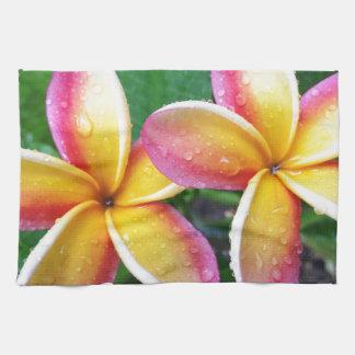 Maui Hawaii Plumeria Flowers Tea Towel