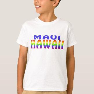 Maui Hawaii rainbow words T-Shirt