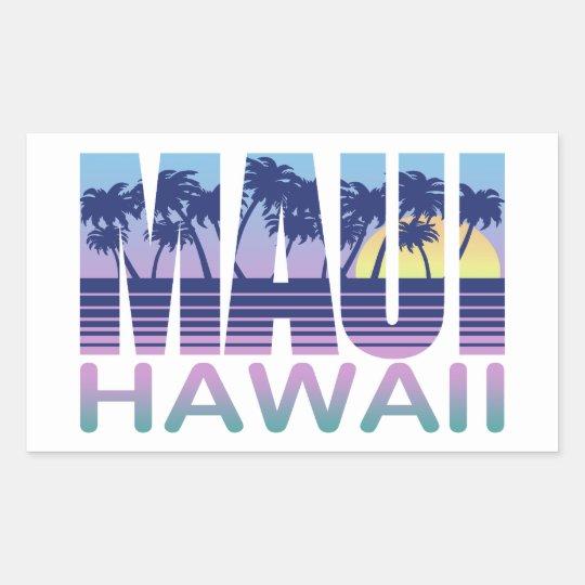 Maui Hawaii Rectangular Sticker