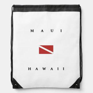 Maui Hawaii Scuba Dive Flag Backpack