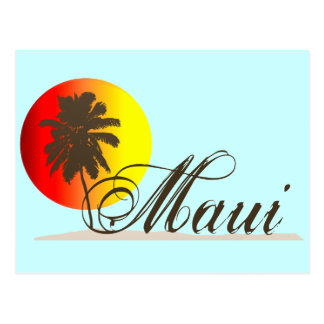 Maui Hawaii Souvenir Postcard
