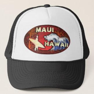 Maui Hawaii surfer waves artistic beach scene hat