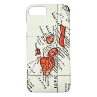 Maui Hawaiian Islands Molokai Vintage Map iPhone 7 Case