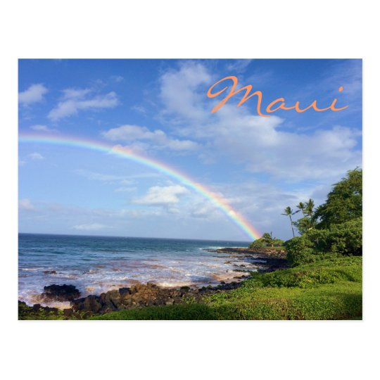 Maui Island Rainbow Postcard