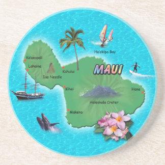 Maui Map Beverage Coaster