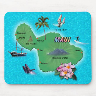 Maui Map Mouse Pad