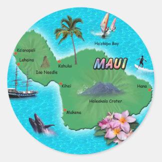 Maui Map Sticker
