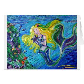 Maui Mermaid Greeting Card