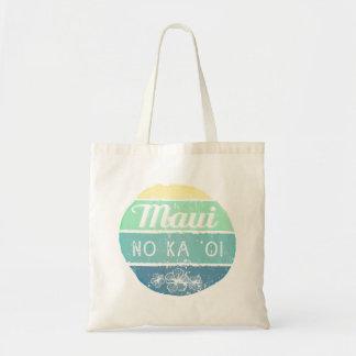 Maui No Ka Oi Vintage Typography Budget Tote Bag