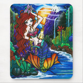 Maui Princess Mermaid Cockatoo Fairy Mouse Pad