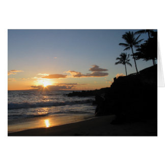 Maui Sunset 1 Card