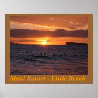Maui Sunset at Little Beach Print
