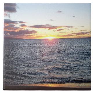 Maui Sunset Photo Tile