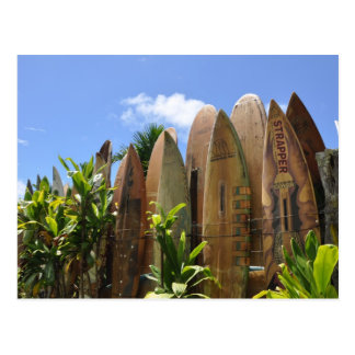 Maui Surfboard fence Postcard