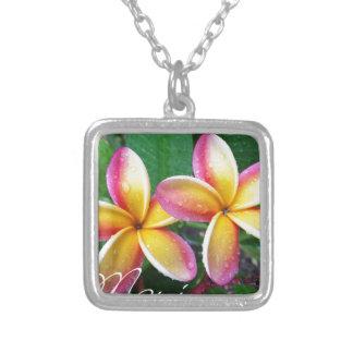 Maui Tropical Plumeria Flowers Pendants