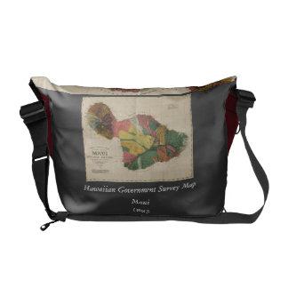 Maui - Vintage Antiquarian Hawaii Survey Map, 1885 Commuter Bags