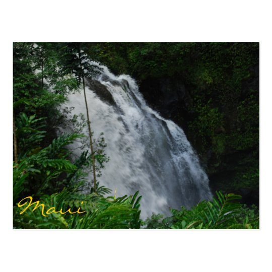 Maui Waterfall Postcard