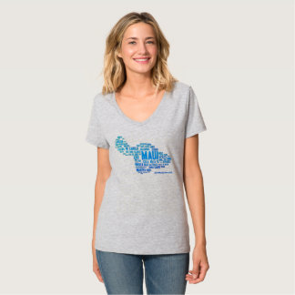 Maui Word Cloud Women's T-Shirt