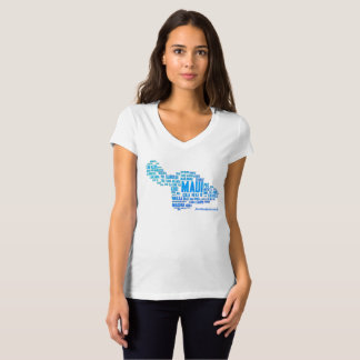 Maui Word Cloud Women's T-Shirt (White)