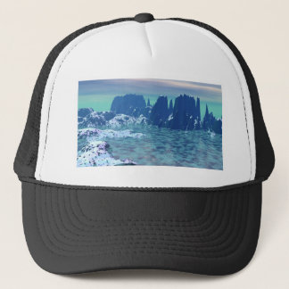 Mauja the ice village in Lower Azulia Trucker Hat