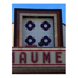 Maumee Theatre Marquee Postcard