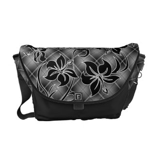 Mauna Loa Hawaiian Hibiscus Plaid Commuter Bag